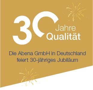 Logo 30 Jahre ABENA Jubiläum
