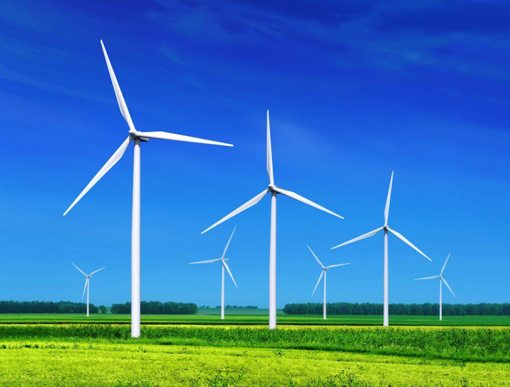 Saubere Energie durch 100% Windkraft