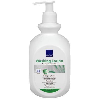 Abena Waschlotion aus der Spenderflasche
